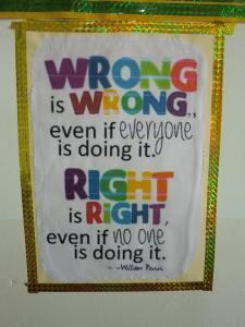Wrong is wrong